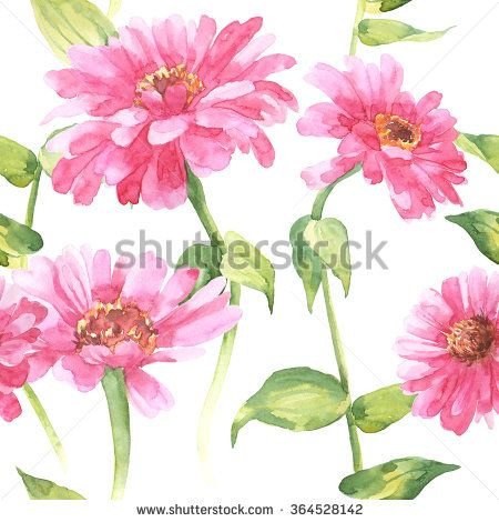 Watercolor flowers design.Floral pattern on white fabric. Big pink flowers print. Fashion dress. Colorful flowers. Floral Background Pattern.