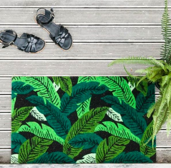 Our banana leaf doormats have us dreaming of a tropical holiday 🍃  www.finderskeepersgifts.com.au