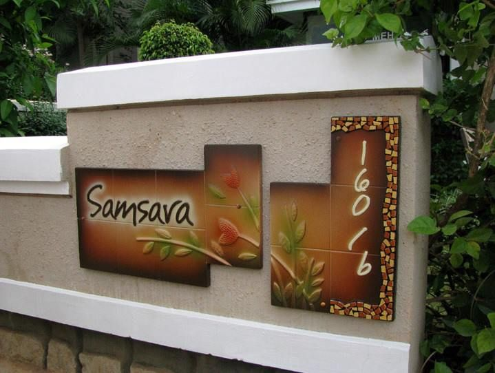 add functionality to design with an elegant design like this adorn your front door with name plateselegant - Name Plate Designs For Home