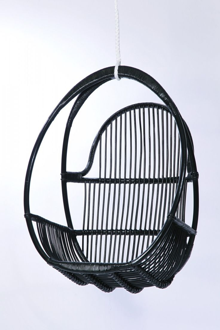 Parolan Rottinki Klassikko riippukeinu, värivaihtoehtoinan musta, hunaja, harmaa ja valkoinen