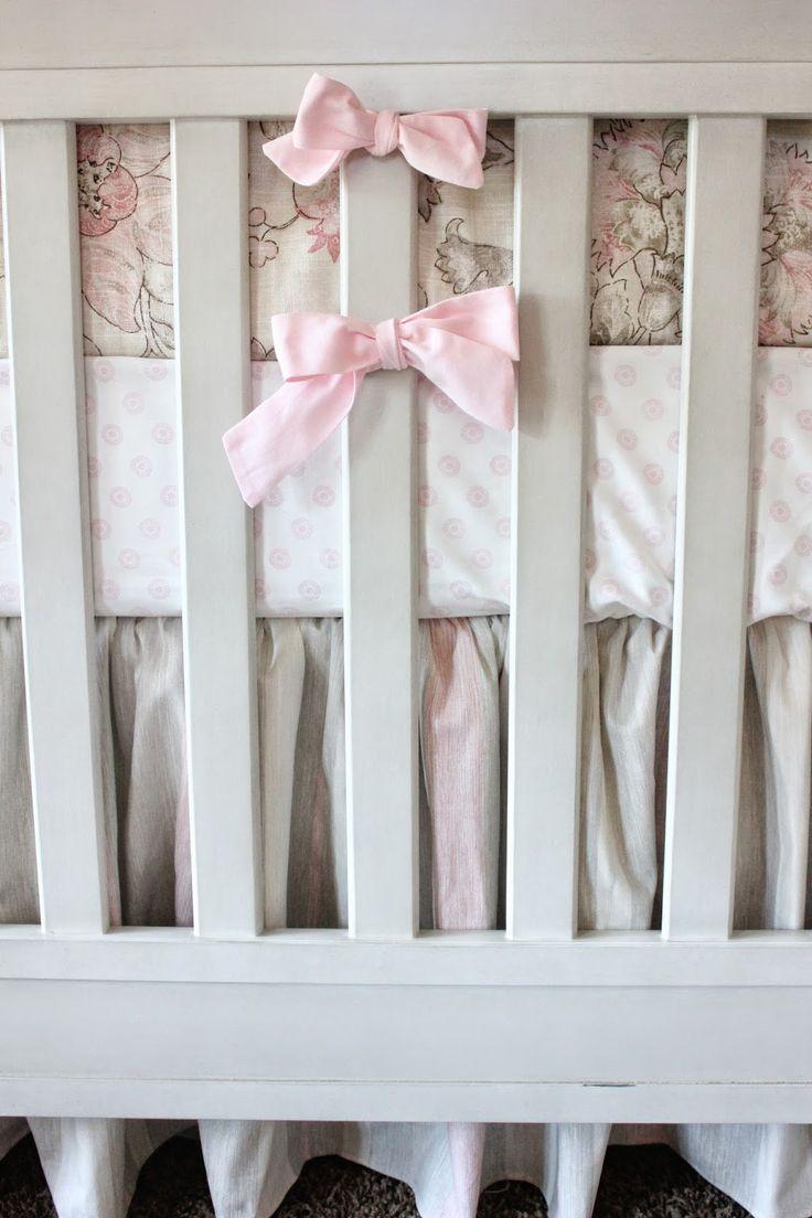 Pink Tan And Cream Crib Bedding Doodlefish Blush Peony