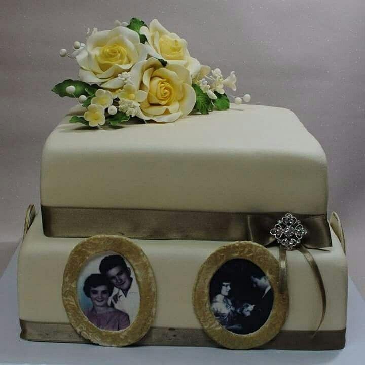 50th anniversary cake#Gold wedding