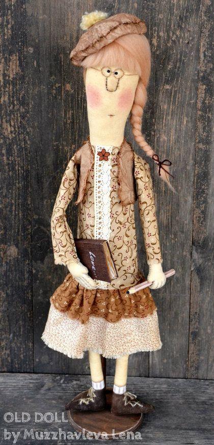 """Коллекционные куклы ручной работы. Ярмарка Мастеров - ручная работа """"In Dreams..."""" Интерьерная примитивная кукла. Handmade."""