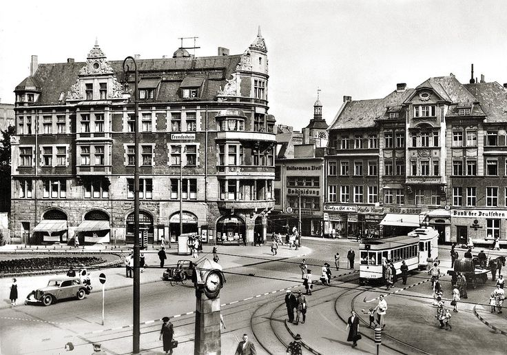 Кёнигсберг. Монетная площадь. Фото ок. 1940 года.