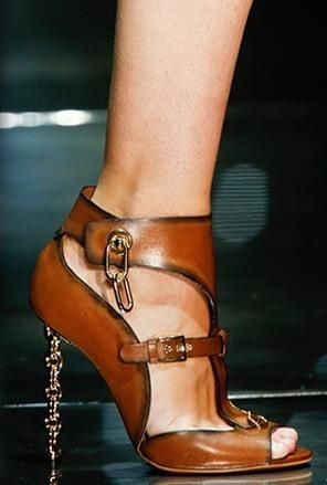 Tom Ford gold chain link stiletto  s/s2014