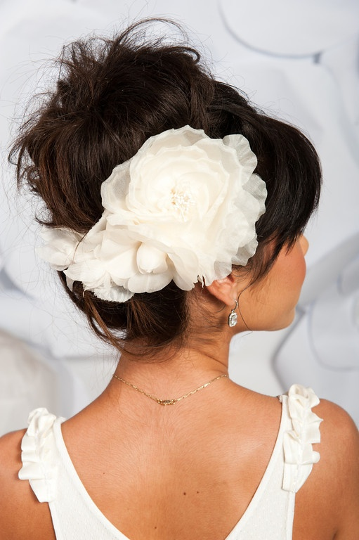 Ivory floral headpiece - Millie | Tessa Kim bridal headpieces veils