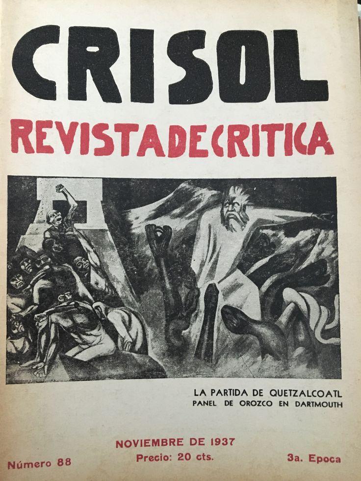 Numero 88, Noviembre 1937. Portada Jose Clemente Orozco Panel en Dartmouth