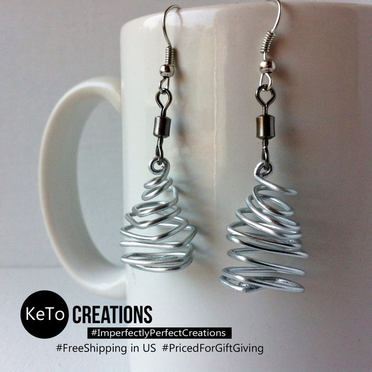"""""""Twisted Compression"""" by KeTo Creations #HandCrafted #Earrings #GiftsForHer #SurpriseGift #ImperfectlyPerfectCreations #FreeShipping in the US #PricedForGiftGiving #JustOpenedOurStore #ShopLikeWeHave5StarRating #WeShipASAP #RepinForLater"""