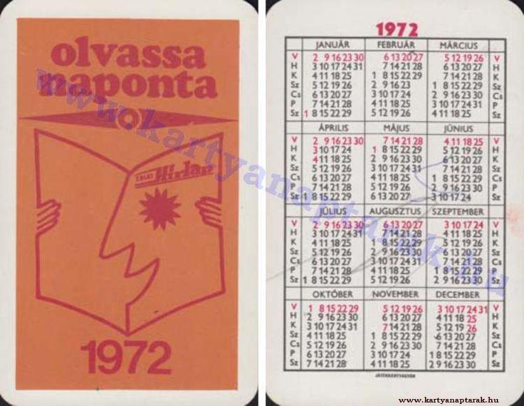 1972 - 1972_0621 - Régi magyar kártyanaptárak