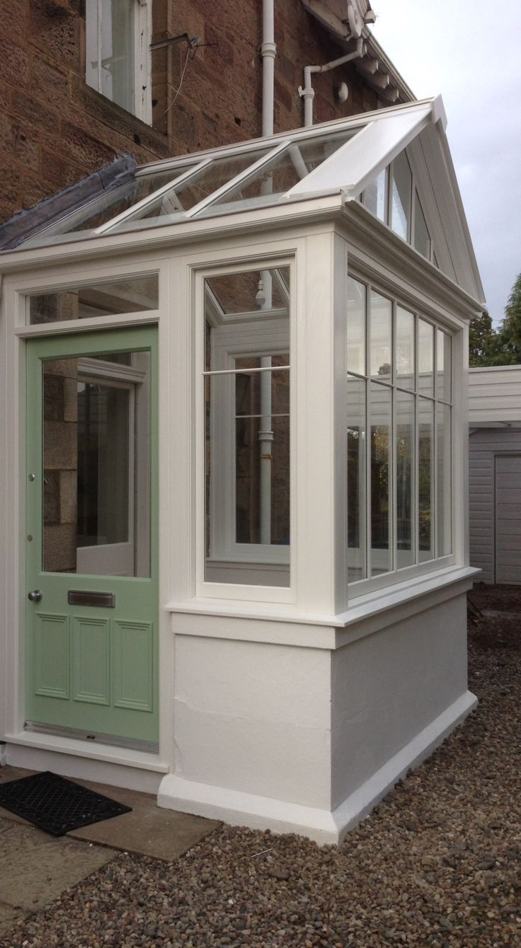 Replacement Entrance porch in Hardwood