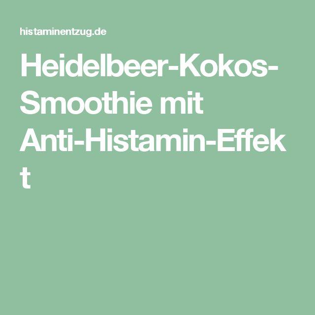 Heidelbeer-Kokos-Smoothie mit Anti-Histamin-Effekt