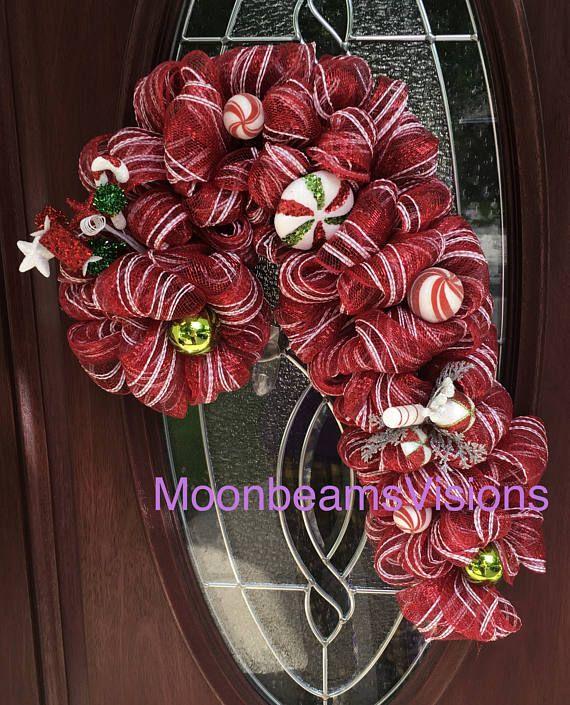 25% de descuento corona Candy Cane candy caña puerta