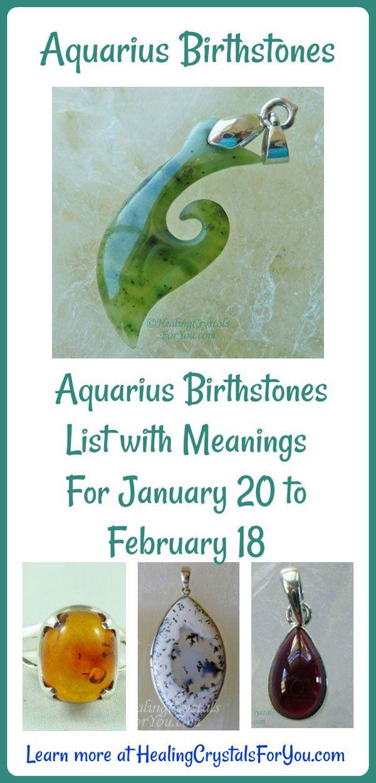 Aquarius Birthstones Aquarius Birthstone List with Meanings For January 20 to February