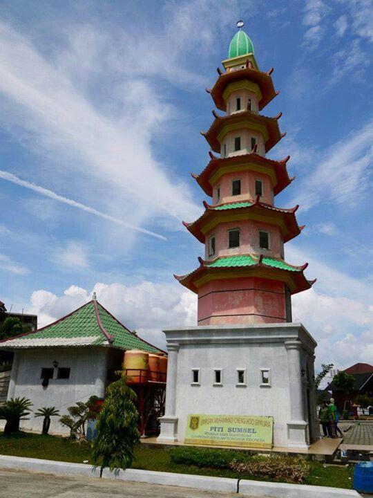 Menara Mesjid Ceng Ho Palembang