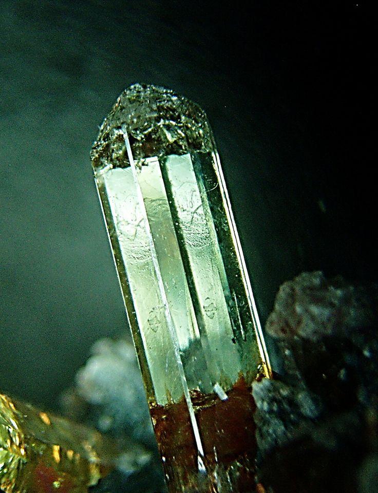 """rockon-ro: """" APATITE (Calcium Phosphate) crystal from the classic location at Cerro del Mercado, Durango, Mexico. """""""