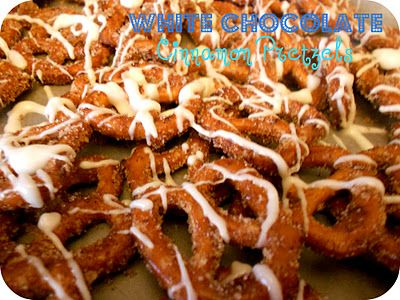 White Chocolate Cinnamon Sugar Pretzels - Six Sisters' Stuff: Friday Fun List: