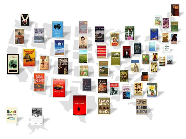 This Map Shows The Most Famous Book Set In Every State by businessinsider: Thanks to @Rebecca Silbermann ! #Books #State