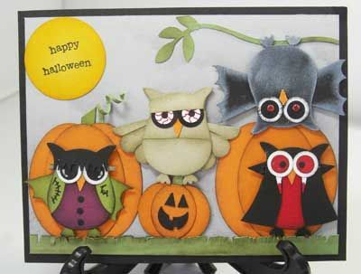 Halloween owl trick or treaters