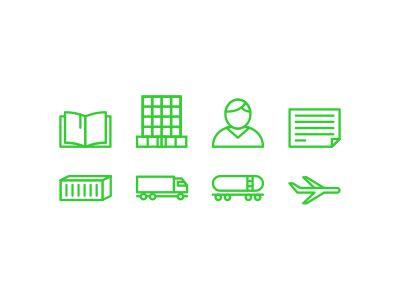 Logistics icons by Igor Petrov
