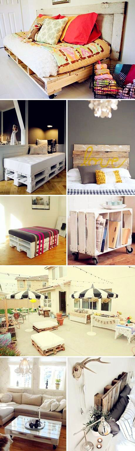 Upcycled Wood Pallets; who knew there are so many fun things you can do with pallets!