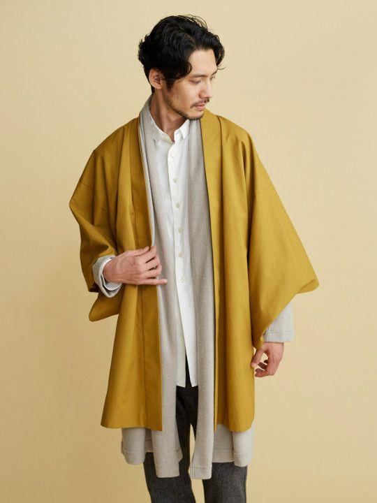 和ROBE / VENTILE HAORI / GOLDENROD. Japanese-style haori half coats make your samurai dream come true.