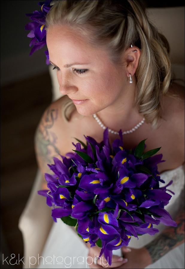 Purple Iris Bridal Bouquet by Botanica