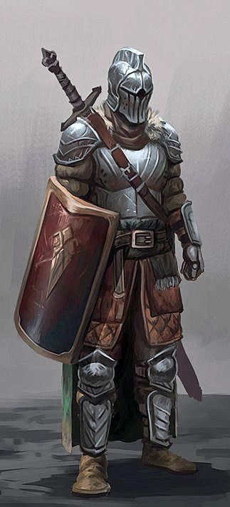 m Paladin plate helm sheild sword
