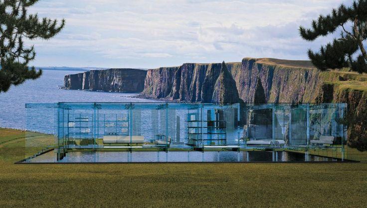 Glass House to projekt koncepcyjny biura Santambrogiomilano, specjalizującego się w projektowaniu szklanego wyposażenia wnętrz.