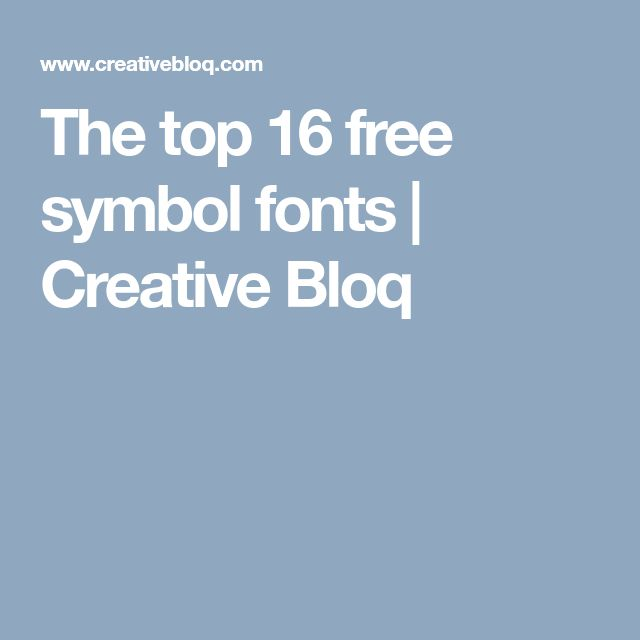 The top 16 free symbol fonts | Creative Bloq