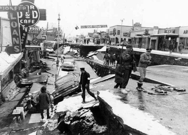 Alaska post-Quake 1964...spent hours looking at National Geographic pictures of huge gaps in the earth...shook my world!