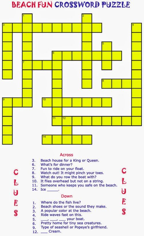Free Printable Crossword Puzzles | Elder Care & Dementia ...