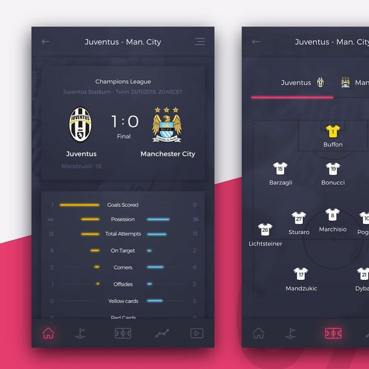 """Football Application Concept by @vitariusbence #PixelPerfectDesign if you want to be featured! #ux #ui #design #dribbble #sketch #photoshop #illustrator…"""
