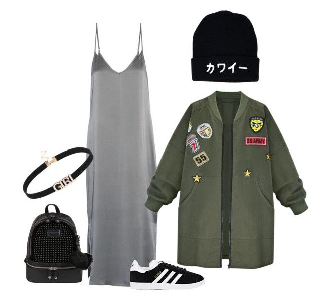 Silky roughness by erinjnolan on Polyvore featuring polyvore, fashion, style, Equipment, WithChic, adidas, Andrew Marc and clothing