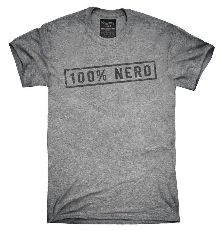 100 Percent Nerd Shirt, Hoodies, Tanktops