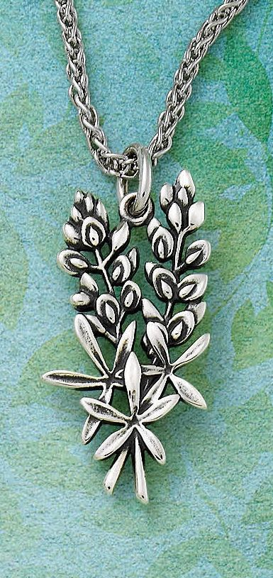 Wherever you go, keep Texas close to your heart with the Bluebonnet Pendant. #jamesavery #jewelry