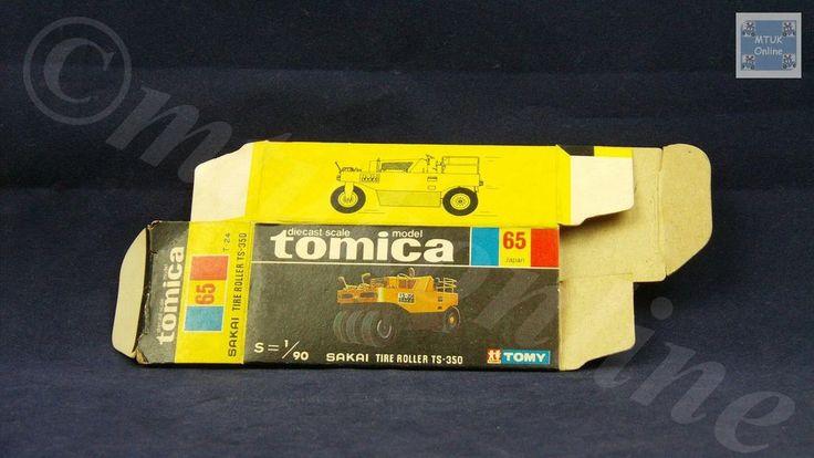 TOMICA 065B SAKAI TIRE ROLLER TS  | 1/90 | ORIGINAL BOX ONLY | 1976-1979 JAPAN