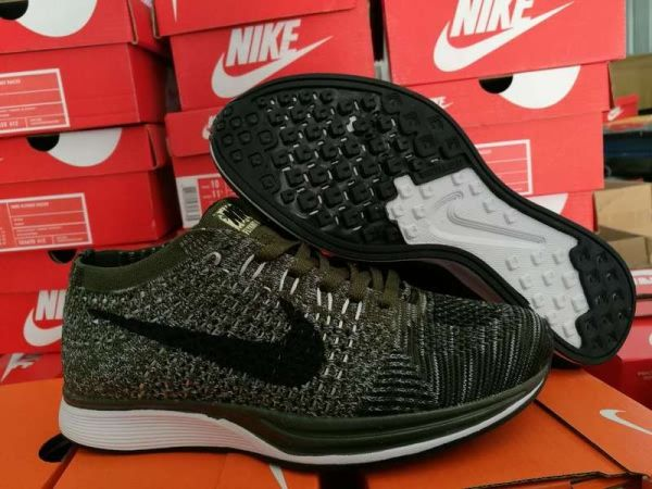 Nike Flyknit Racer Unisex shoes Army