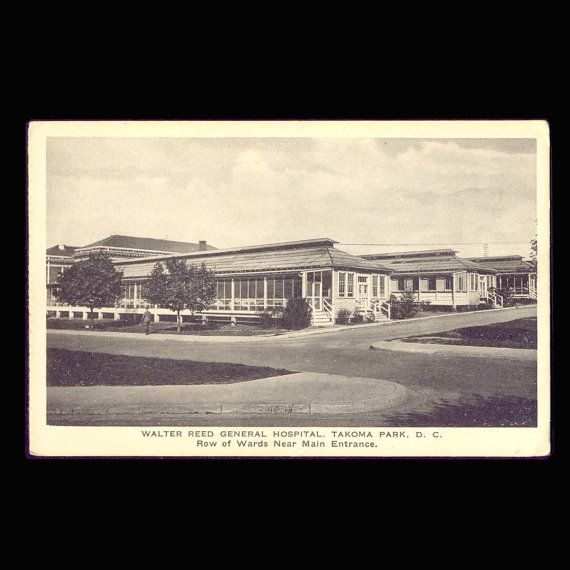 Walter Reed General Hospital Wards Near Main by COINSnCARDS