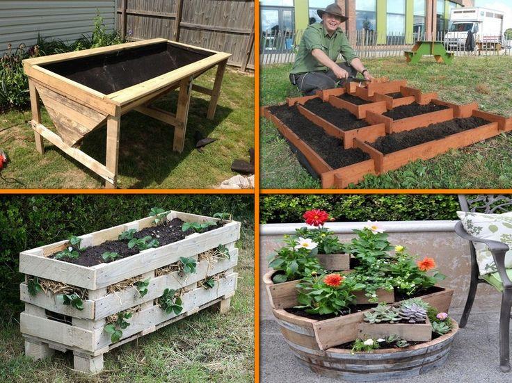 89 best images about pallet furniture on pinterest for Vertical pallet garden bed