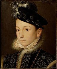 Charles IX (1550 - 1574). Son of Henri II and Catherine de Medici. He married Elisabeth of Austria and had a daughter.