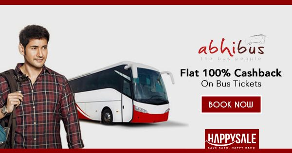 Save on travel, book all your bus tickets with @AbhiBus and get 100% #Cashback #AbhiBookAbhiGo