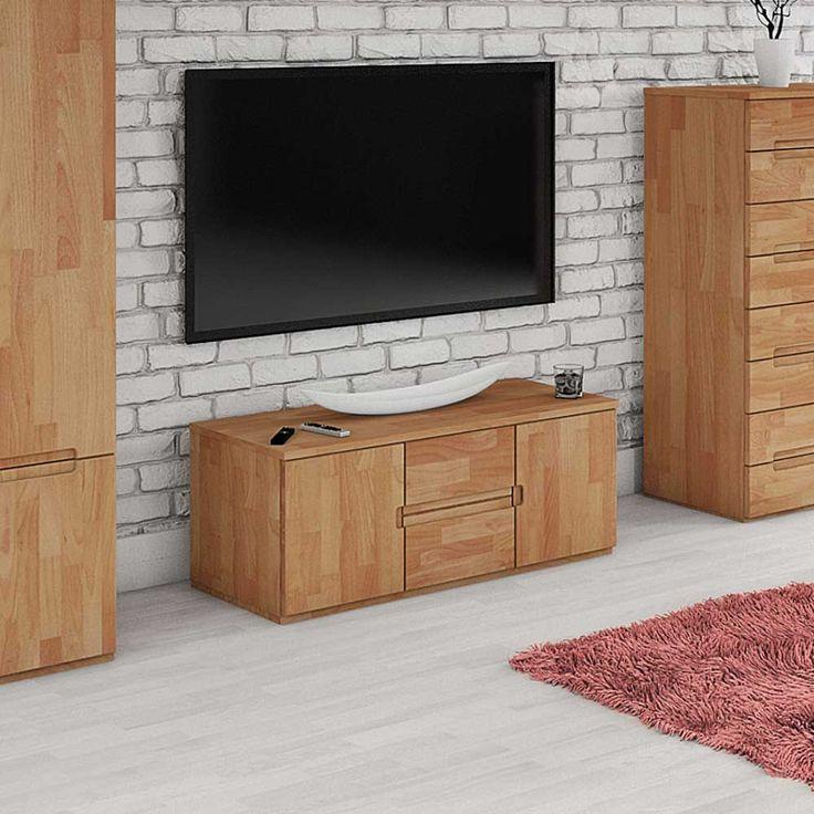 TV Board Aus Buche Massivholz 110 Cm Jetzt Bestellen Unter Moebelladendirektde Wohnzimmer Tv Hifi Moebel Lowboards Uid1b213fa7 Cd34 5b02