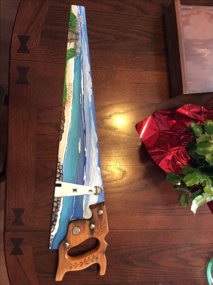 17 Best Images About Hand Painted Saw Blades On Pinterest