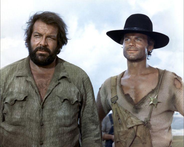 """Terence Hill - Bud Spencer : """"- Qui c'est lui ? - Lui ? C'est la main du Diable. - Lui aussi ? - Oui... mais lui c'est la gauche."""""""