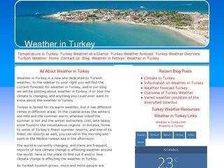 Weather Turkey, Turkish Weather