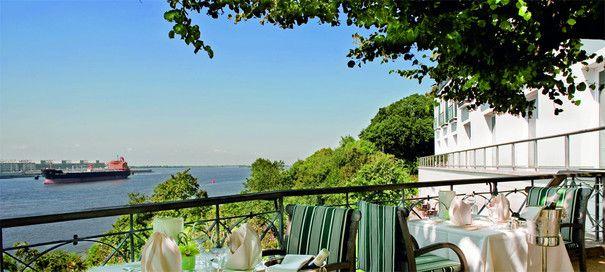 Die Terrasse des Jacobs Restaurant in Hamburg