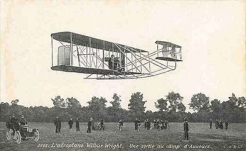 The Wright Brothers with Flyer I (1903). The first airplane ever made
