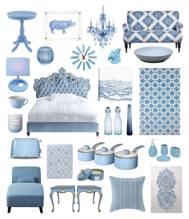 Powder Blue By Sassduck On Polyvore Featuring Interior