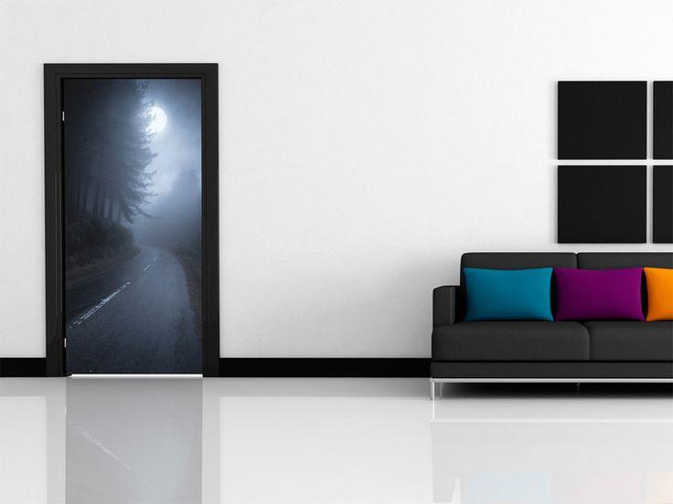 Tapeta na drzwi 100x210 droga 101003-5 - artgeist - Dekoracje #road #wallpaper #tapeta #dark