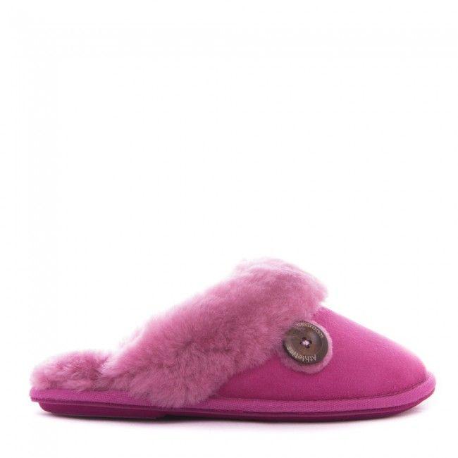 Molly - Sheepskin Mule Slippers - Pink - Side